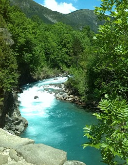 River Ara at Torla on Aragon Active Holidays Pyrenees Weather