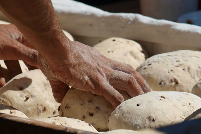 Making bread on Cooking and Walking Holidays Spain